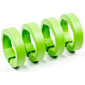 Sixpack Bagues de serrage de rechange - aluminium vert